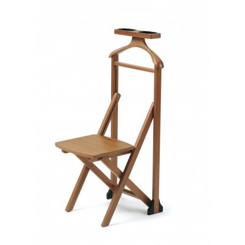 Stummer Diener. Stuhl aus Buchenholz.