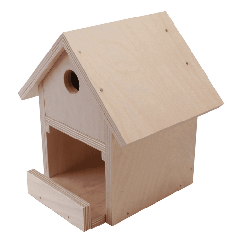 Holzbau-Set Vogelhaus.