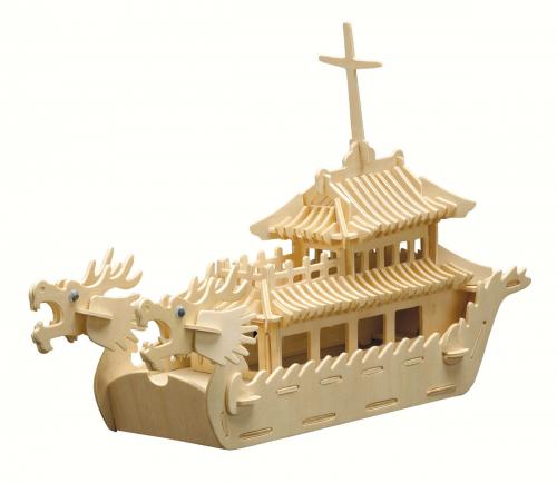 Holzbausatz »Drachenboot«.