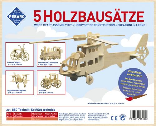 Holzbausatz »Technik-Set«.