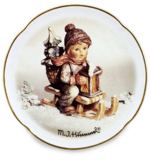Hummel-Wandteller »Fahrt in die Weihnacht«.