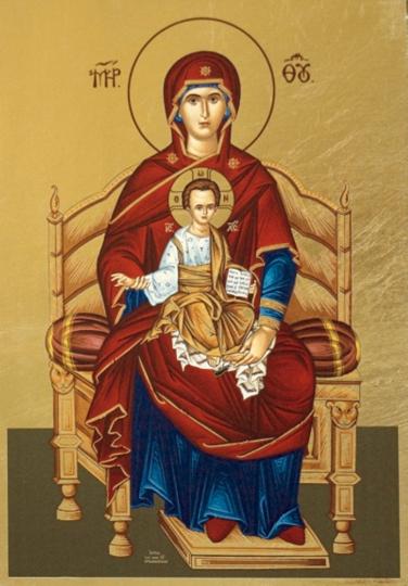 Ikone »Madonna auf dem Thron«.