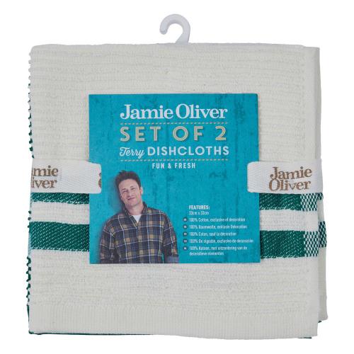 2 Jamie Oliver-Geschirrtücher.