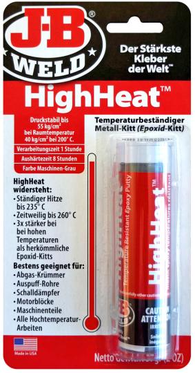 Hitzebeständiger Kleber »High Heat«.