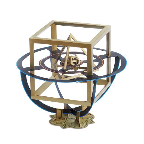 Kartonbausatz Johannes Keplers Weltgeheimnis.