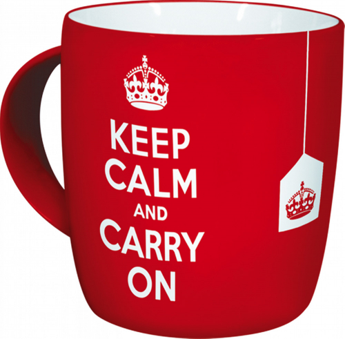 Kaffeebecher »Keep calm and carry on«.
