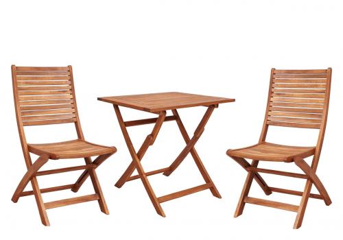 Klapptisch- und Stühle-Set »Akkazie«.