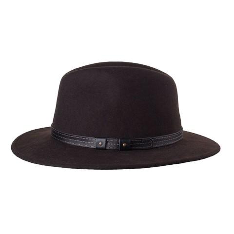 Klassischer Herren-Outdoor-Hut braun - Größe 61 XL