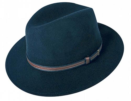 Klassischer Herren-Outdoor-Hut Schwarz - Größe 57