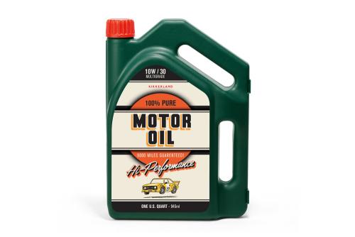 Kleiner Werkzeugkasten »Motoröl-Flasche«.