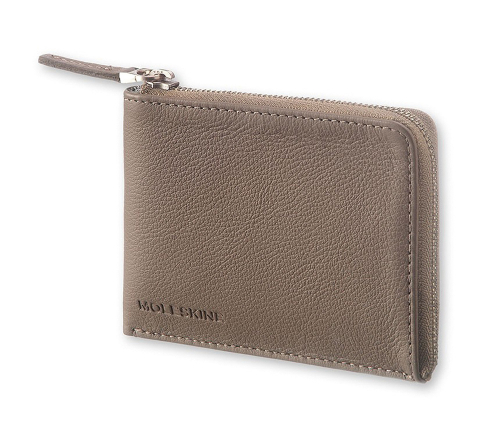 Kleines Leder-Portemonnaie »Lineage«, hellbraun.