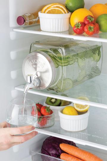 Kühlschrank Getränkespender mit Zapfhahn, 3 Liter.
