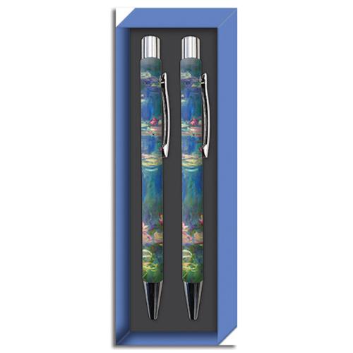 Kugelschreiber Set nach Monets »Wasserlilien«.