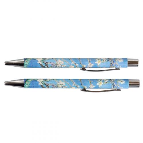 Kugelschreiber Set nach Van Goghs »Mandelblüte«.