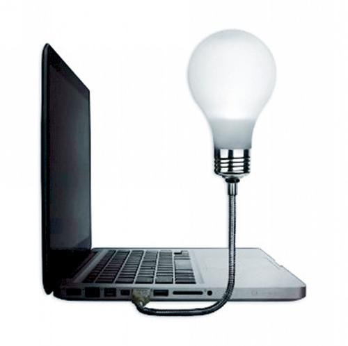 Glühbirne für den Laptop.