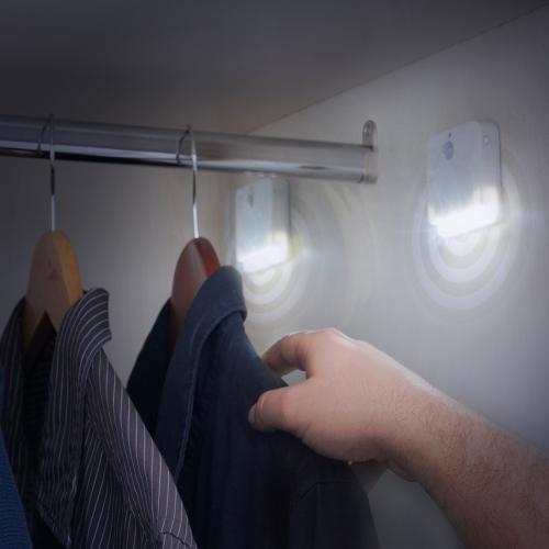 LED-Licht mit Bewegungsmelder, 2er-Set.