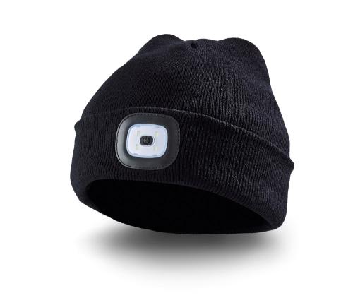 LED-Mütze.