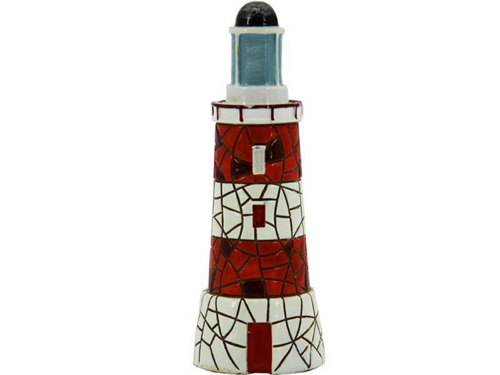 Leuchtturm aus Mosaik.