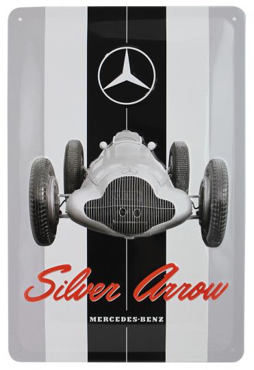 Blechschild Mercedes-Benz Silberpfeil.