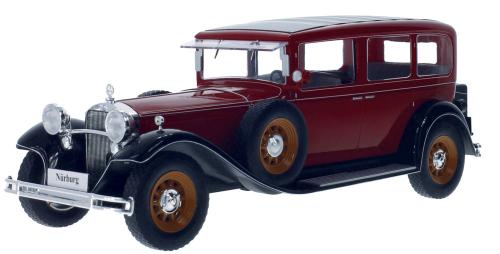 Mercedes Nürburg rot/schwarz 1928 - Modell 1:18