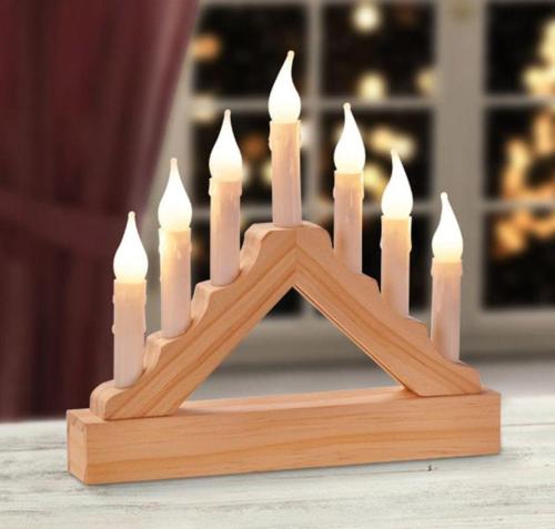 Mini-Lichterbogen aus Holz.