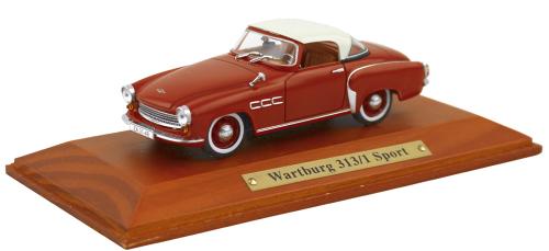 Modell Wartburg 313/3 Sport, rot - Modell 1:43