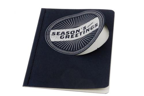 Moleskine Ornament-Postkarte »Season's Greetings«, klein.