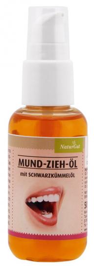 Mundzieh-Öl in Pumpflasche.