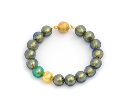 Murano-Armband »Farben des Meeres«.