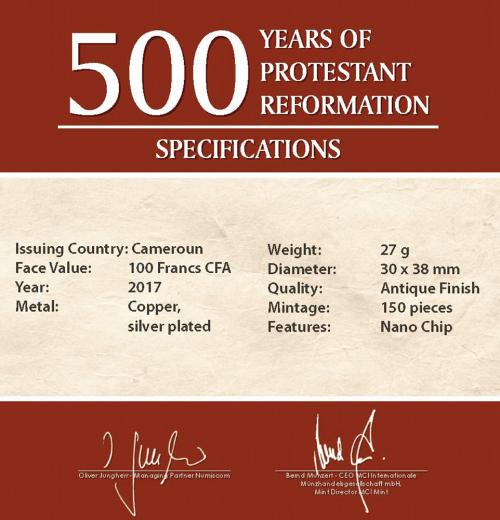 Nano Münze Luther - 500 Jahre Reformation
