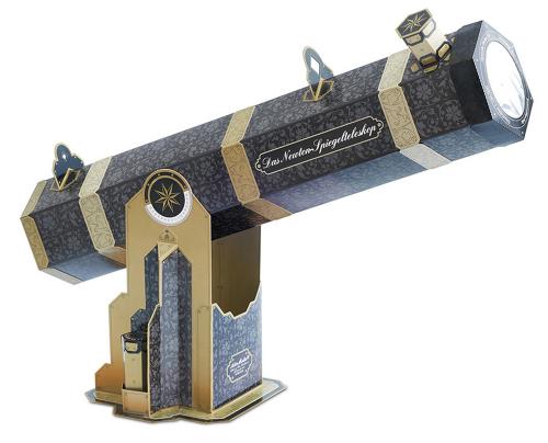 Newton-Spiegelteleskop aus Pappe.