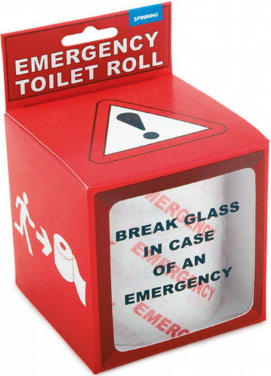 Notfall-Rolle Toilettenpapier