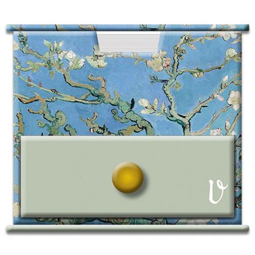 Notizzettelwürfel nach Van Goghs »Mandelblüte«.