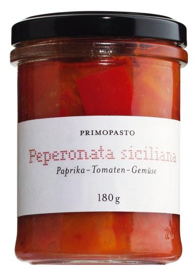 Paprika-Tomaten-Gemüse »Peperonata siciliana«, 180 g.