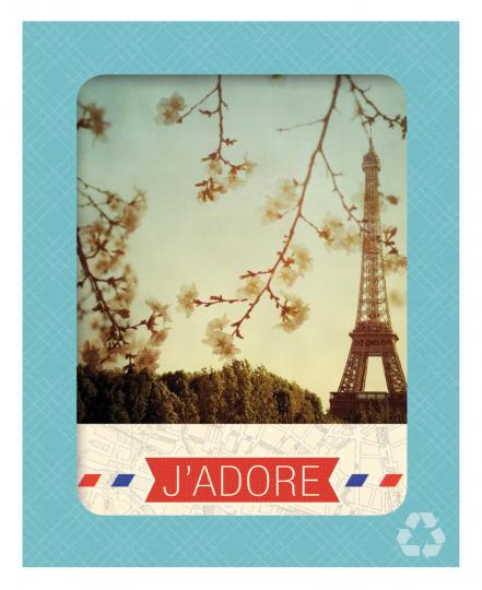 Paris J'Adore. Grußkarten.