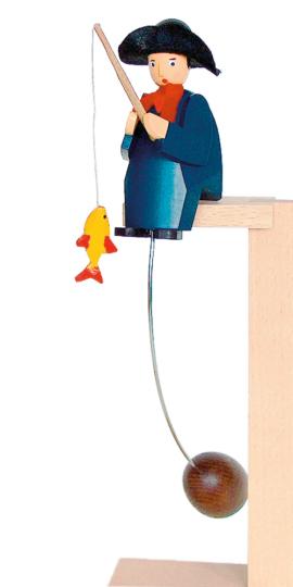 Pendelfigur »Angler mit Fisch«.