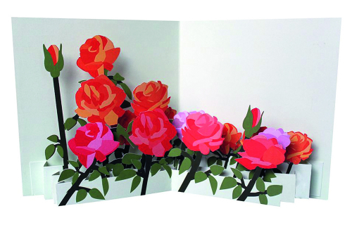 Pop-up-Grußkarte »Rosen«.