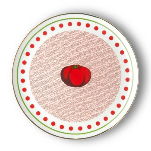 Porzellan-Platte »Tomate«.