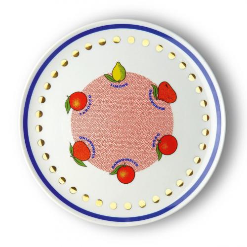 Porzellan-Platte »Zitrusfrüchte«.