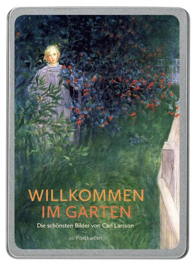 Postkarten-Set »Willkommen im Garten«. Die schönsten Bilder von Carl Larsson.