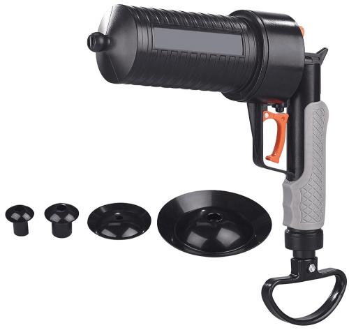 Pressluft-Rohrreiniger mit Pistolengriff.