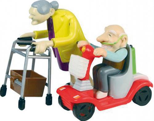 Rasende Großeltern.