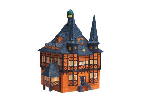 Rathaus Wernigerode aus Porzellan.