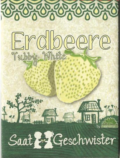 Saatgut Walderdbeere »Tubby White« (Fragaria vesca).