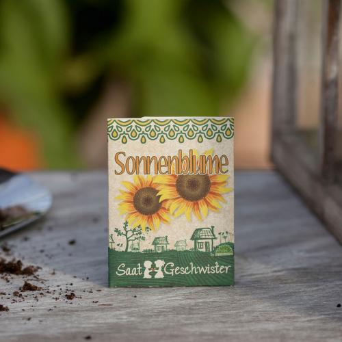 Saatgut-Set Chili »Fireflame« und Sonnenblumen.