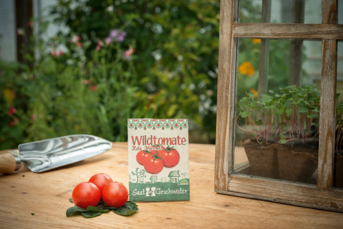 Saatgut-Set Rucola »Grazia« und Tomate »Rote Murmel«.