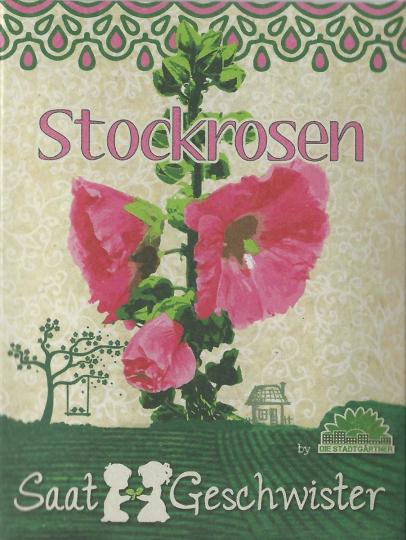 Saatgut Stockrosen (Alcea rosea).