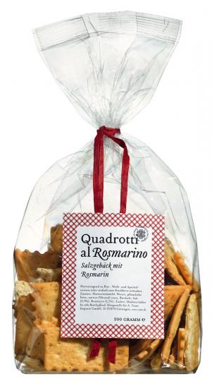 Salzgebäck »Quadrotti al Rosmarino«, 200 g.