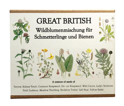 Samen Wildblumenmischung für Schmetterlinge und Bienen.