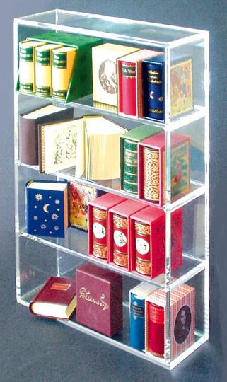 Sammler-Regal für Mini-Bücher.